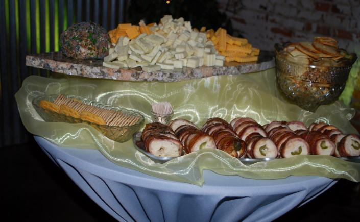[Image: Variety of Cheeses and Monterey Chicken]