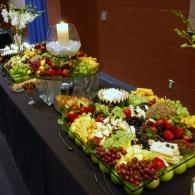 Fruit and Cheese Display.