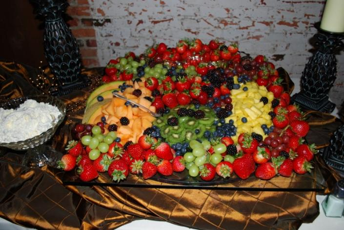 [Image: Fruit display.]